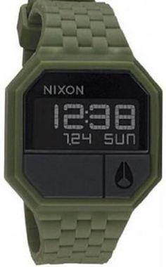 Nixon Rubber Re-Run Watch Matte Black/Surplus, One Size by Nixon