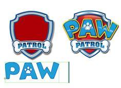 Paw Patrol font ttf instant download - Police d'écriture Pat Patrouille Détourner logo avec prénom d'un enfant