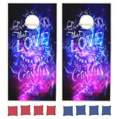 The Ones that Love Us Amethyst Dreams Cornhole Set