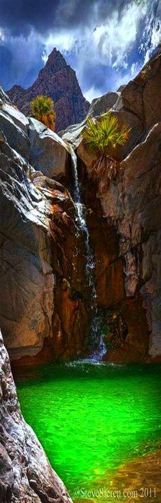 Crystal Pool under Monsoon - Baja California, Mexico #travel #photography #scenery                                                                                                                                                                                 Más