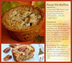 Simple pecan pie muffins