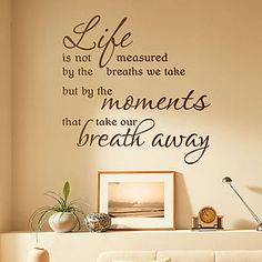 'Life Is Measured' Wall Sticker Quote - interior accessories