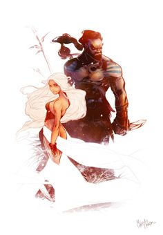 Daenerys and Drogo by Mikuloctopus | Game of Thrones Collection / Daenerys is da shit!