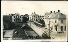Hedmark fylke STANGE. Fint gateparti ved Stange station 1922  Utg Normann
