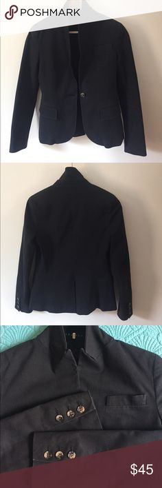 Theory blazer Black (slight fade) one-button blazer.. dress up some jeans & top with this awesome piece Theory Jackets & Coats Blazers