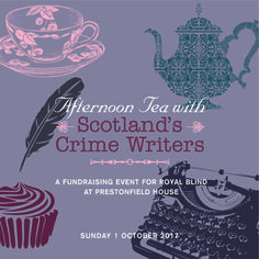Join us for a scrumptious afternoon tea with a glass of bubbles while hearing from some of Scotland's best -loved crime writers!