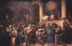 Page of Ecce Homo! by MUNKÁCSY, Mihály in the Web Gallery of Art, a searchable image collection and database of European painting, sculpture and architecture Great Paintings, Landscape Paintings, The Master And Margarita, Web Gallery Of Art, Christ The Redeemer, European Paintings, Holy Week, Art Database, Art For Art Sake