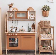 Ikea Childrens Kitchen, Ikea Kids Kitchen, Toddler Kitchen, Little Kitchen, Wooden Kitchen, Ikea Hack Kids, Hacks Ikea, Ikea Duktig, Bohemian Kitchen