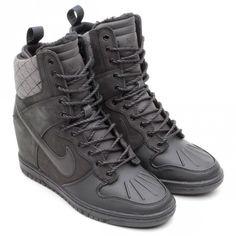 brand new ce2ec 41cd4 Nike WMNS Dunk Super Sky Hi – Black Nike Sky Hi, Nike Gold, Types