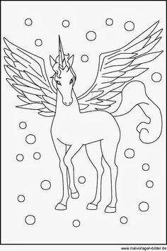 märchen: ausmalbild: einhorn auf der wiese zum ausmalen | zuckertüten | pinterest | unicorns