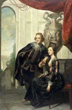 Sir Watkin Williams-Wynn (1749–1789), and Lady Henrietta Williams-Wynn (1748–1769)  by Joshua Reynolds       Date painted: 1769  A memorial portrait. She died before the portrait was completed.