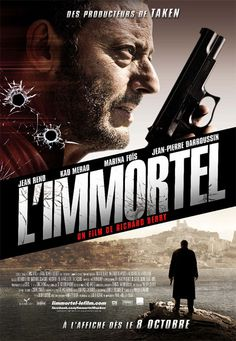 L'Immortel (American title - 22 Bullets) film starring Jean Reno and based on the novel by Franz-Olivier Giesbert. Excellent acting including the youngest Max Baissette de Malglaive. Movie Poster Art, Film Posters, French Posters, Casablanca, Movie Songs, I Movie, Work In French, Richard Berry, Grand Film