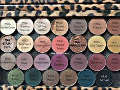 Makeup Geek Eye Shadow Shades, MAC Eye Shadow Shades, Z Palette, Makeup Geek Eye… I want this next purchase lol Mac Eye Makeup, Best Mac Makeup, Makeup Geek Eyeshadow, Asian Eye Makeup, Makeup Dupes, Skin Makeup, Eyeshadow Palette, Eyeshadow Pans, Latest Makeup