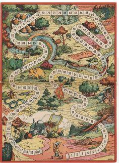 Wooden Board Games, Vintage Board Games, Game Boards, Board Game Template, Clever Kids, Fantasy Map, Diy Games, Retro Toys, Vintage Box