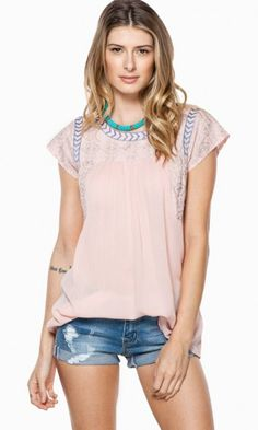 SWEET DISPOSITION BLOUSE IN PINK
