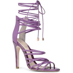 ALDO Birchell featuring polyvore, fashion, shoes, sandals and purple