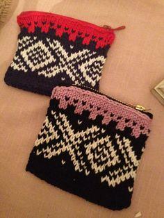 🇳🇴For smal money. Pengepung i Mariusmønster🇳🇴 Norwegian Knitting, Norway, Nursing, Coin Purse, Camping, Boutique, Money, Fabric, Pattern