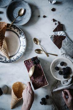 Local Milk | blackberry chocolate truffle ice cream