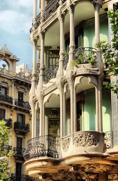 Windows terrace in Barcelona, Catalonia, Spain