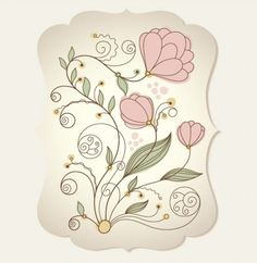 Dainty Vintage Floral Vector Background - http://www.welovesolo.com/dainty-vintage-floral-vector-background/