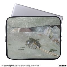 Frog Sitting On A Rock Laptop Computer Sleeves