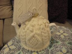 Aran Tea Cosy designed by Teresa for Stitch