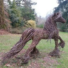 wicker horse at Knightshayes, Tiverton, Devon by matthewblack1974.