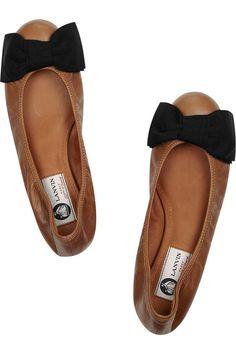 Camel + Black Lanvin Ballet Flats