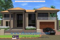 Home Design Plans, Plan Design, Dream Homes, My Dream Home, New Modern House, Double Storey House, Building Costs, Dream House Plans, Home Collections