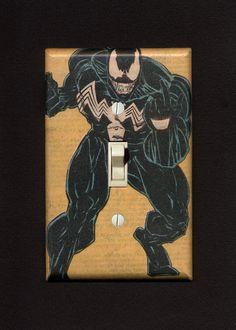 Super Villain Light Switch Plate  Venom by IntergalacticDesign, $14.95