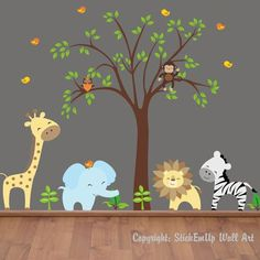 Jungle Wall Decals I'm totally doing a jungle theme, since my babies are boy/girl twins and its gender neutral. love these decals! so cute!