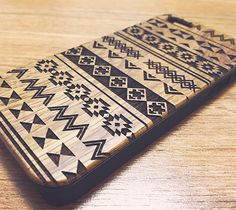 Native Ethnic Natural Wood Engraved iPhone 6s Case iPhone 6s plus Cove – Acyc