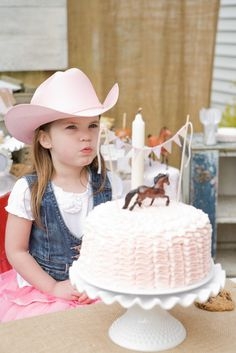 Pink Brown Vintage Ponies Birthday Party Ideas | Photo 1 of 36 | Catch My Party - Like the outfit and some of the ideas are practical enough.