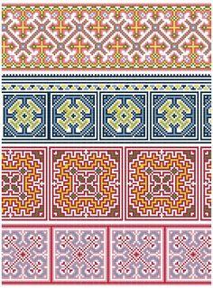 Cross Stitch Hmong Inspired Borders - PDF pattern. $4.00, via Etsy.