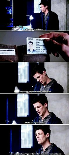 When Barry lost his memory  omgoodness I love him