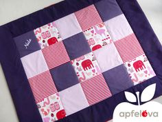 Aufwendig und liebevoll genähte Decke aus den abgebildeten Stoffen.   Ein durchdachtes Design und die hochwertige Verarbeitung zeichnet Decken von apfeleva aus. So werden sie zu langjährigen...
