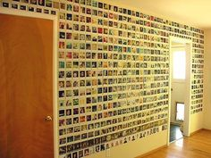 this is sick. polaroid wall.