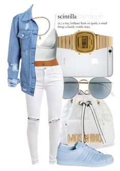 ·We gon make this paper, put that on my mama. You gon' see us later, put that on my mama· by endeyah on Polyvore featuring moda, Dark Pink, FiveUnits, adidas, Moschino, Casio, Chanel and Ray-Ban