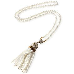 Amrita Singh Women's Ankara Pearl Tassel Pendant Necklace - Gold ($29) ❤ liked on Polyvore featuring jewelry, necklaces, gold, gold tassel necklace, long tassel necklace, long necklace, tassel pendant necklace and pearl pendant necklace