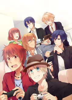 Uta no prince sama Playing games and the other r watching them lol