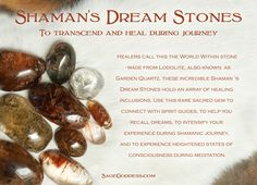 Shaman's Dream Stone What journey will these Shaman's Dream Stones take you on?…