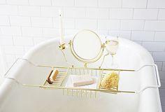 Ultimate Bathtub Caddy, Brass on OneKingsLane.com