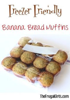 Easy Banana Bread Muffins Recipe! ~ from TheFrugalGirls.com ~ these delicious moist muffins are the perfect breakfast or brunch treat. Store extras in the freezer for a quick fix when the muffin craving hits! #recipes #thefrugalgirls