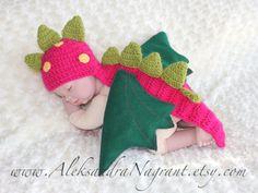 DRAGON/ DINOSAUR Baby Costume  wool/ acrylic  by AleksandraNagrant