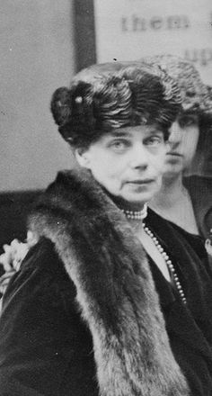 Grand Duchess Xenia, later in life. She was daughter to Tsar Alexander III and sister to Tsar NIcholas II. Married to Sandro. Her son-in-law (married to her daughter Irene) was Prince Felix Yusupov, one of those responsible for the murder of Rasputin.
