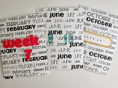 Printables -- 3x4 Month Cards for Project Life