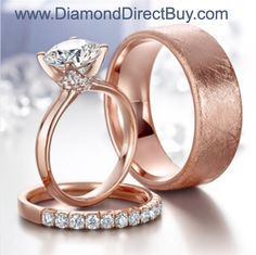 Rose Gold continues to be the HOT trend in men and woman's diamond rings  DiamondDirectBuy.com specializes in ALL STYLES call 312-388-2662 or visit our site