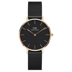 Daniel Wellington Classic Petite Ashfield Bracelet Watch, Black/Rose-Golden Classic+Petite+Ashfield+Bracelet+Watch,+Black/Rose-Golden+by+Daniel+Wellington+at+Neiman+Marcus. Daniel Wellington Watch Women, Daniel Wellington Classic Petite, Mesh Bracelet, Bracelet Watch, Dw Watch, Luxury Gifts For Women, Branded Gifts, Stainless Steel Jewelry, Credit Cards