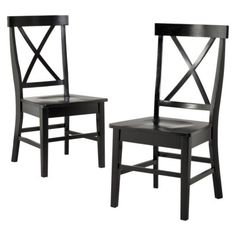 2 Pc American Simplicity X-Back Side Chair - Black  Rating: 4.5 out of 5 stars 83 reviews    $139.99
