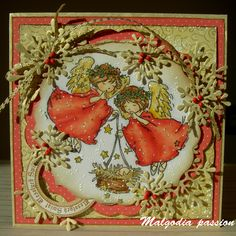 Holiday Cards, Christmas Cards, Angel Cards, Nativity, Lily, Homemade, How To Make, Gifts, Scrapbooking